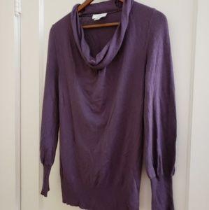 LOFT   M purple long sleeve cowl neck sweater